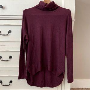 Bohme Cherish Burgundy Turtleneck Sweater.